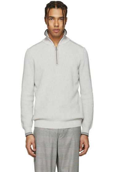 Lanvin - Grey Half-Zip Sweater