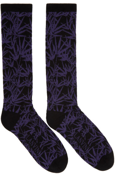 Lanvin - Black Jacquard Socks