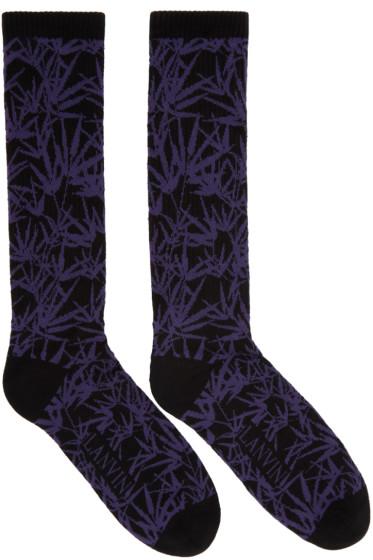 Lanvin - Black Jacquard Socks