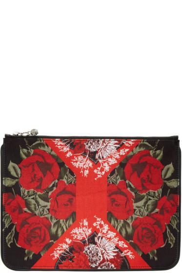 Alexander McQueen - Multicolor Floral Zip Pouch