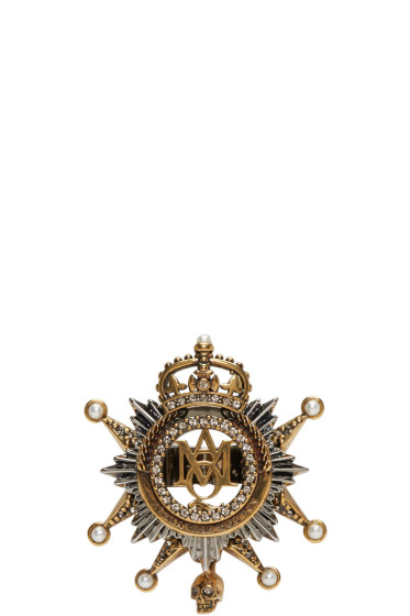 Alexander McQueen - Gold Medallion Ring