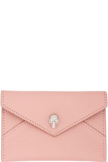 Alexander McQueen - Pink Skull Envelope Card Holder