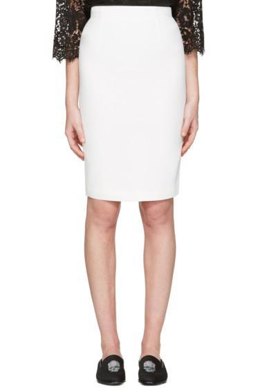 Alexander McQueen - Ivory Pencil Skirt