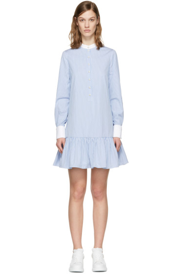 Alexander McQueen - Blue Drop Waist Shirt Dress