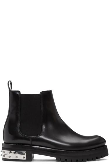Alexander McQueen - Black Studded Heel Ankle Boots