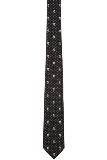 Alexander McQueen - Black Polka Dot & Skull Tie