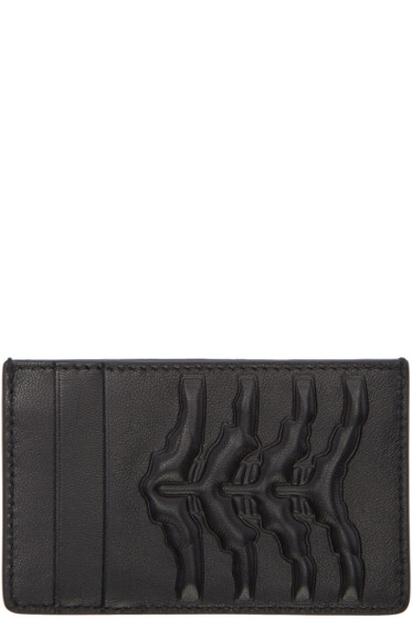 Alexander McQueen - Black Rib Cage Card Holder