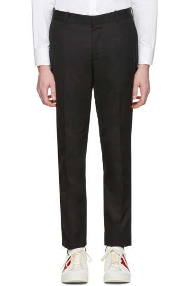 Alexander McQueen - Black Pleated Trousers