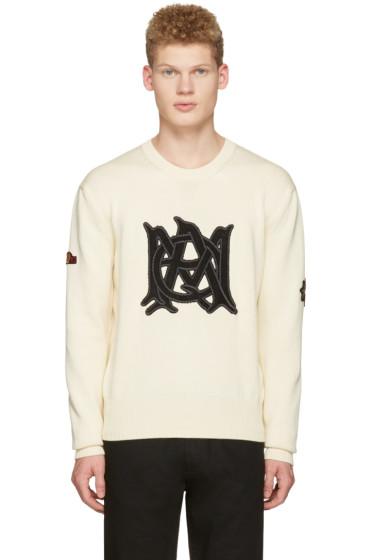 Alexander McQueen - Ivory Cotton Logo Pullover