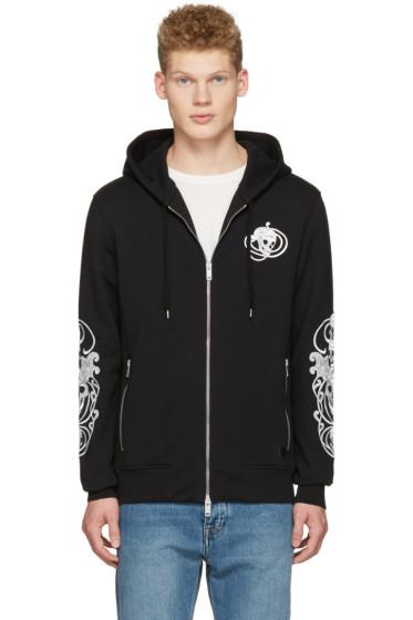 Alexander McQueen - Black Embroidered Skulls Hoodie