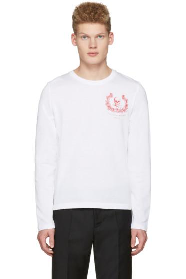Alexander McQueen - White Skull Long Sleeve T-Shirt