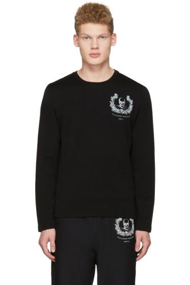 Alexander McQueen - Black Skull Long Sleeve T-Shirt