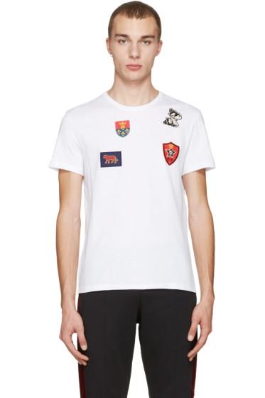 Alexander McQueen - White Badges & Butterfly T-Shirt