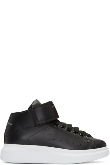 Alexander McQueen - Black Oversized High-Top Sneakers