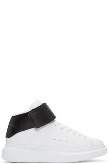 Alexander McQueen - Black & White Oversized High-Top Sneakers