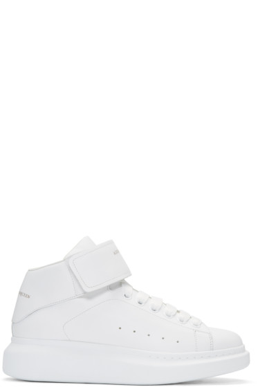 Alexander McQueen - White Oversized High-Top Sneakers