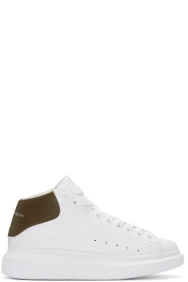 Alexander McQueen - White Oversized High-Top Sneakers