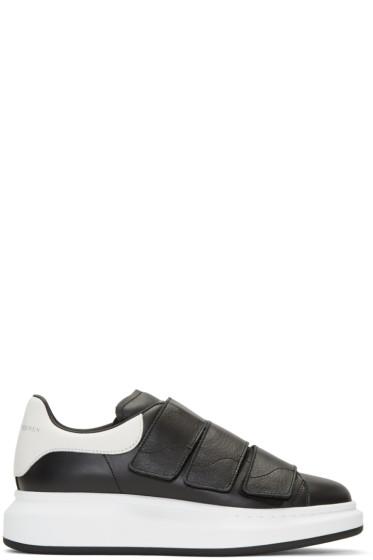 Alexander McQueen - Black Leather Low-Top Sneakers