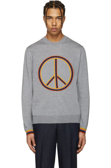 Paul Smith - Grey Peace Sign Pullover
