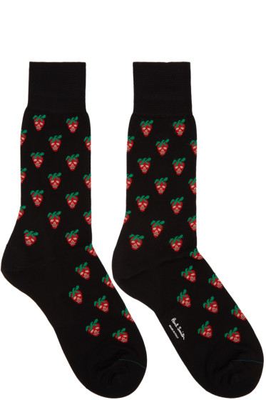 Paul Smith - Black Mini Strawberry Socks
