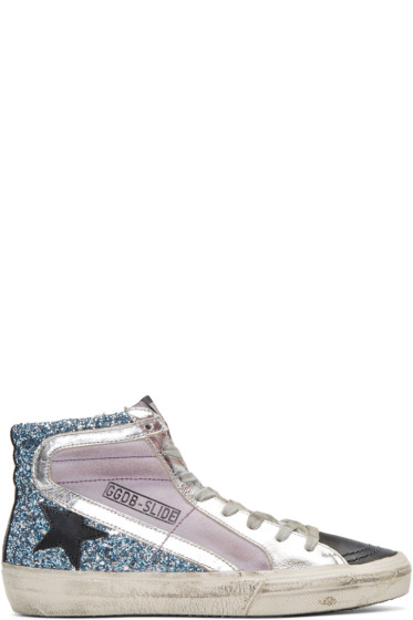 Golden Goose - Multicolor Slide High-Top Sneakers