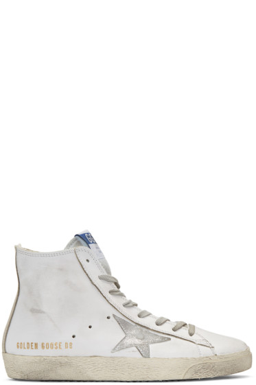 Golden Goose - White Francy High-Top Sneakers