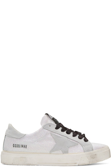 Golden Goose - White Glitter Star May Sneakers