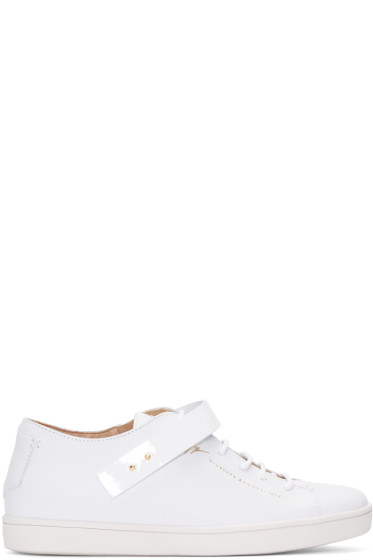 Giuseppe Zanotti - White Leather Strap Sneakers