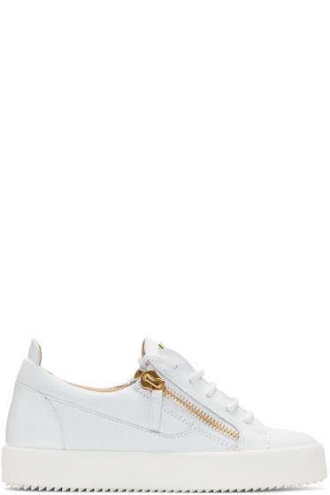 Giuseppe Zanotti - White Leather London Sneakers