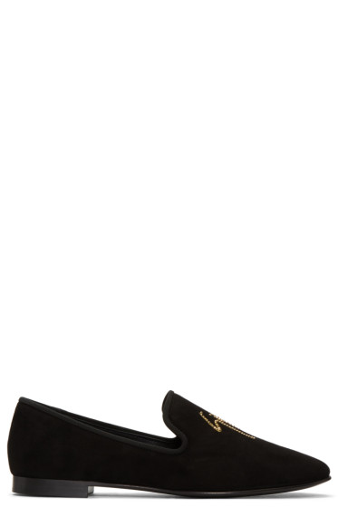 Giuseppe Zanotti - Black Suede Kevin 10 Loafers