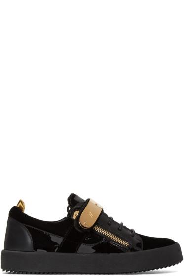 Giuseppe Zanotti - Black Velvet London Sneakers