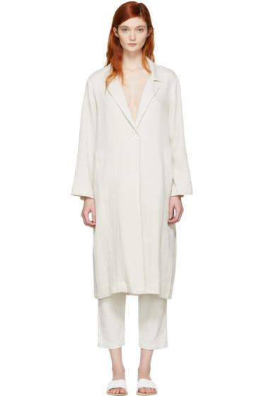 Raquel Allegra - White Gauze Trench Coat