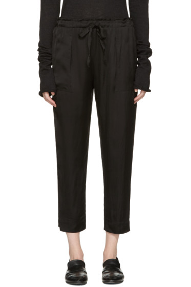 Raquel Allegra - Black Liquid Satin Lounge Pants