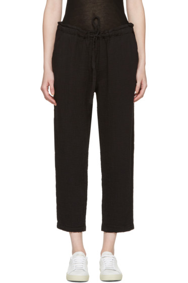 Raquel Allegra - Black Drawstring Lounge Pants