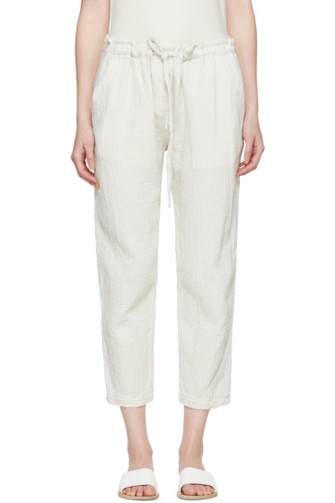 Raquel Allegra - White Drawstring Lounge Pants