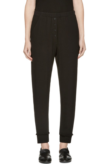 Raquel Allegra - Black Crepe Trousers