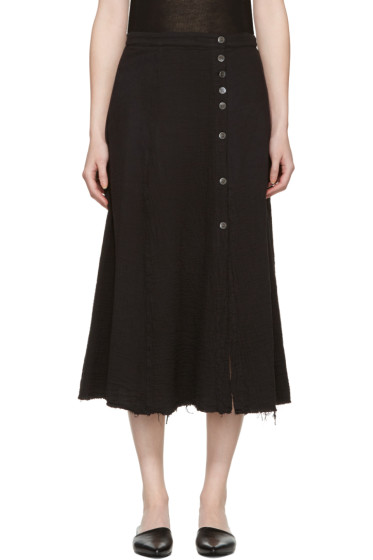 Raquel Allegra - Black Safari Skirt