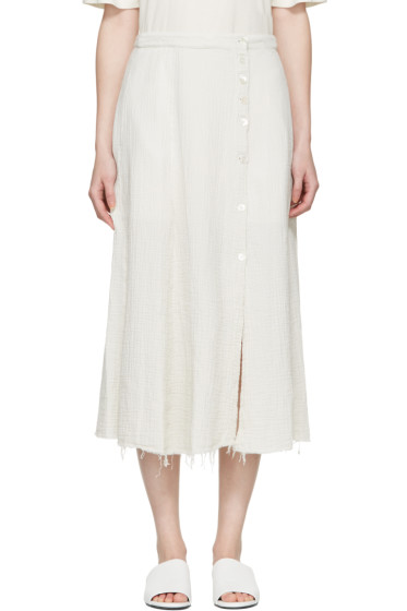 Raquel Allegra - White Gauze Safari Skirt