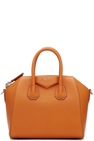 Givenchy - Orange Mini Antigona Bag
