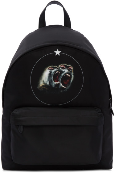 Givenchy - Black Monkey Brothers Backpack