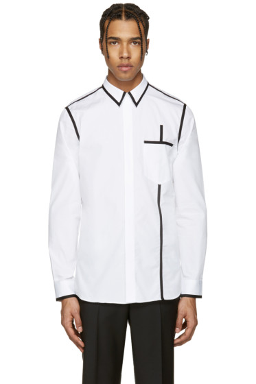 Givenchy - White & Black Piping Shirt