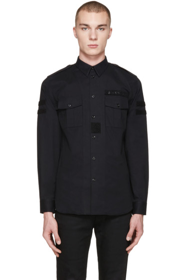 Givenchy - Black Velcro Patches Shirt
