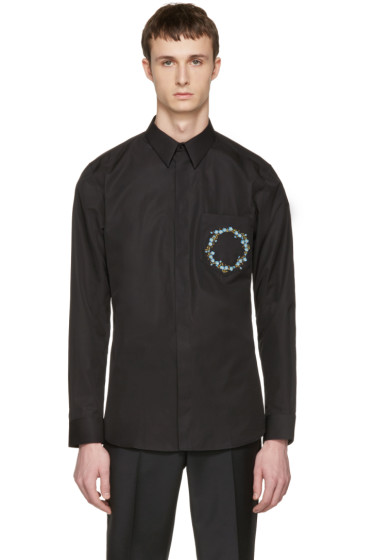 Givenchy - Black Floral Crest Shirt
