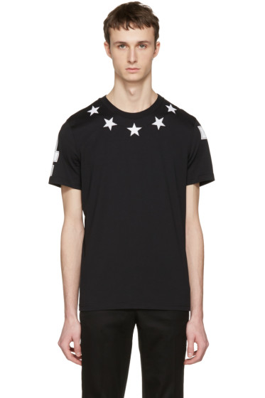 Givenchy - Black '74' Stars T-Shirt
