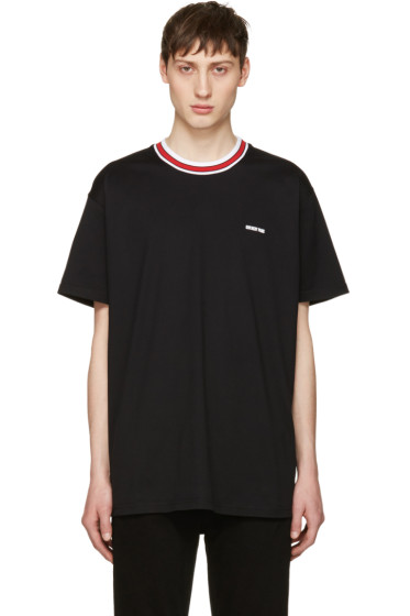 Givenchy - Black Contrast Collar T-Shirt