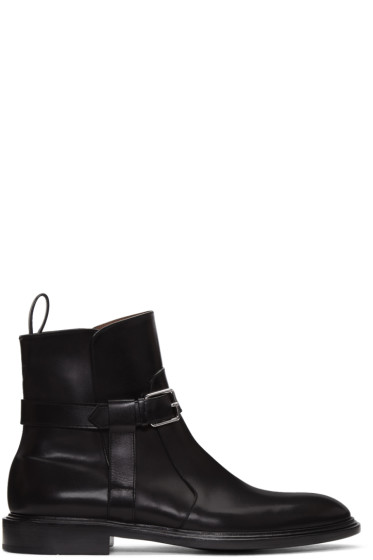 Givenchy - Black K Line Buckle Boots