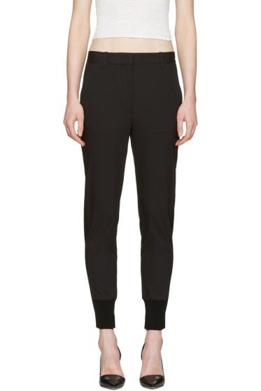 3.1 Phillip Lim - Black Wool Jogger Trousers