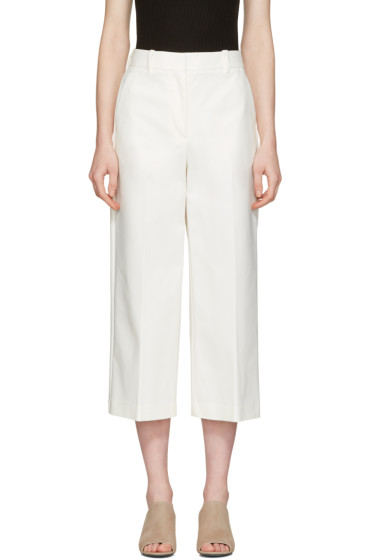 3.1 Phillip Lim - White Wide-Leg Crop Tailored Trousers