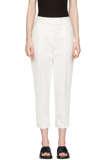 3.1 Phillip Lim - White Tailored Carrot Trousers