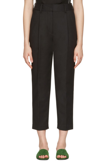 3.1 Phillip Lim - Black Tailored Carrot Trousers